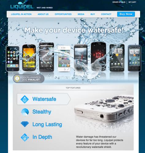 ガジェット機器やiPhoneなどのスマフォ携帯電話などナノコーティング防水「Liquipel」