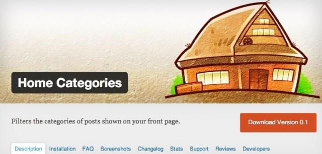 トップページに表示する記事をカテゴリ指定でコントロール、シンプル明快なプラグイン Home Categories