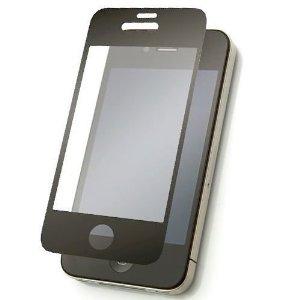 貼り直しが簡単 気泡知らず iPhone4/4S対応 硬質保護フィルム ブラック 反射防止タイプ