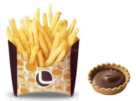 ロッテリアのつけポテ(ガーナミルクチョコレート)が値段そのままサイズアップ