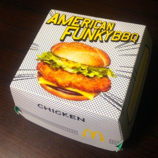マクドナルド期間限定バーガー「アメリカンファンキーBBQ チキン」#マックの80年代風バーガー