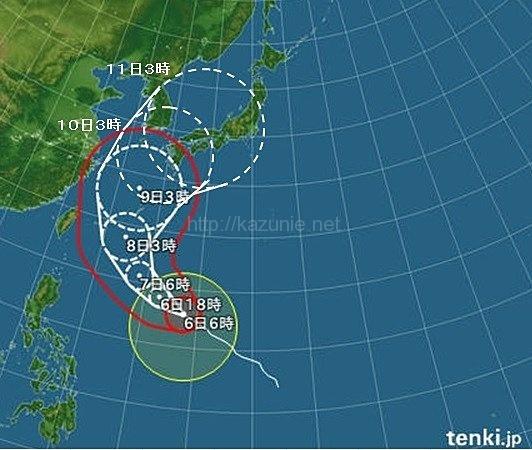 台風8号10日頃に本州付近へ沖縄は本日から準備を!ほか今日の #スクラップ #2014 #7/6