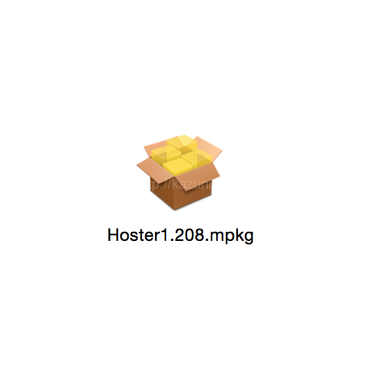 YosemiteでHosterがインストール出来ない問題解決する方法